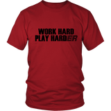 "Youth & Adult Tee ""Play Harder"" (black print)"