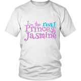 "Youth & Adult Tee ""I'm the real Princess Jasmine"" (print/blue print)"