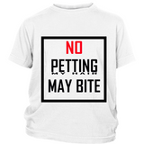 "Youth Tee ""No Petting"" (black print)"