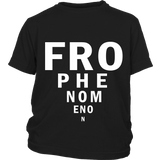 "Youth Tee ""Fro Phenomenon"" (white print)"