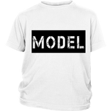 "Youth & Adult Tee ""Model"" (black print)"