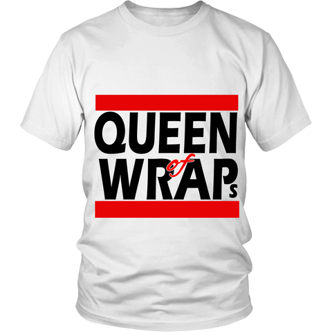 "Adult Tee ""Queen of Wraps"" (black print)"