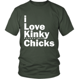 "Youth & Adult Tee ""I Love Kinky (Haired) Chicks"" (white print)"