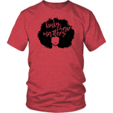 "Youth & Adult Tee ""Kinky Hair Matters"" (black ink)"