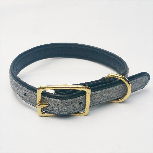 MH dog collar - Grey/Black - MisterHound  - 1