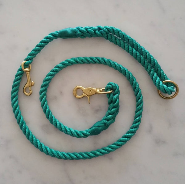 Skipper dog leash - Emerald green