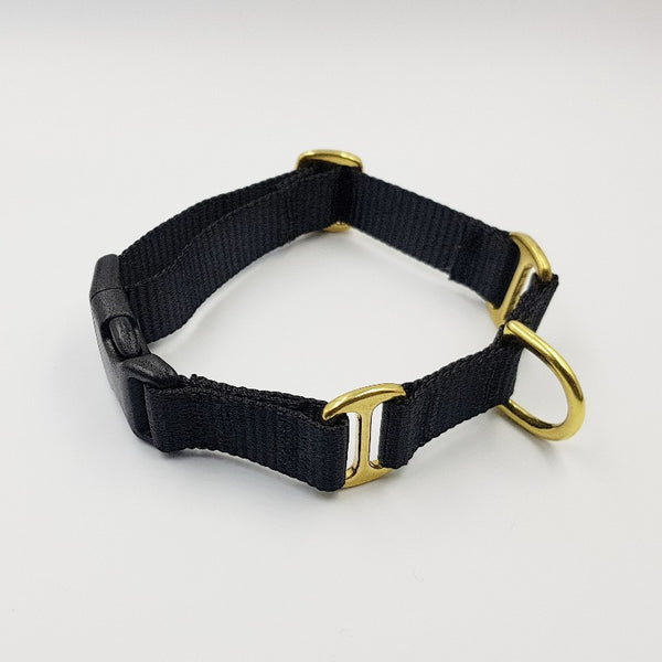 Oh Snap! dog collar - Black / black