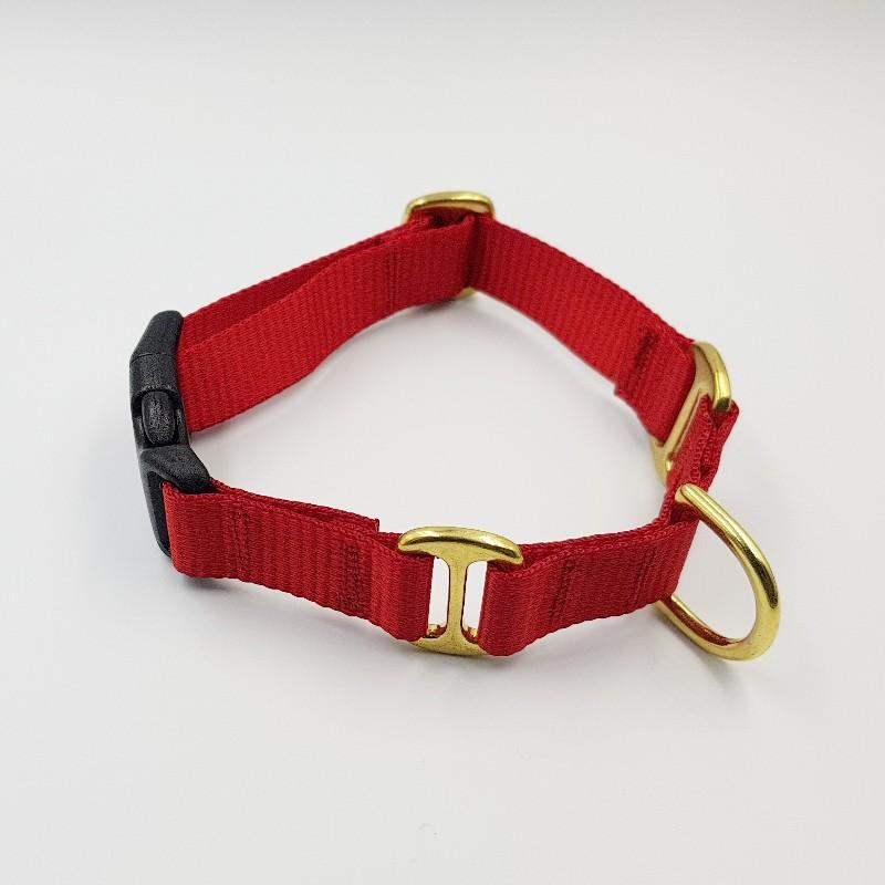 Oh Snap! dog collar - Red / Red