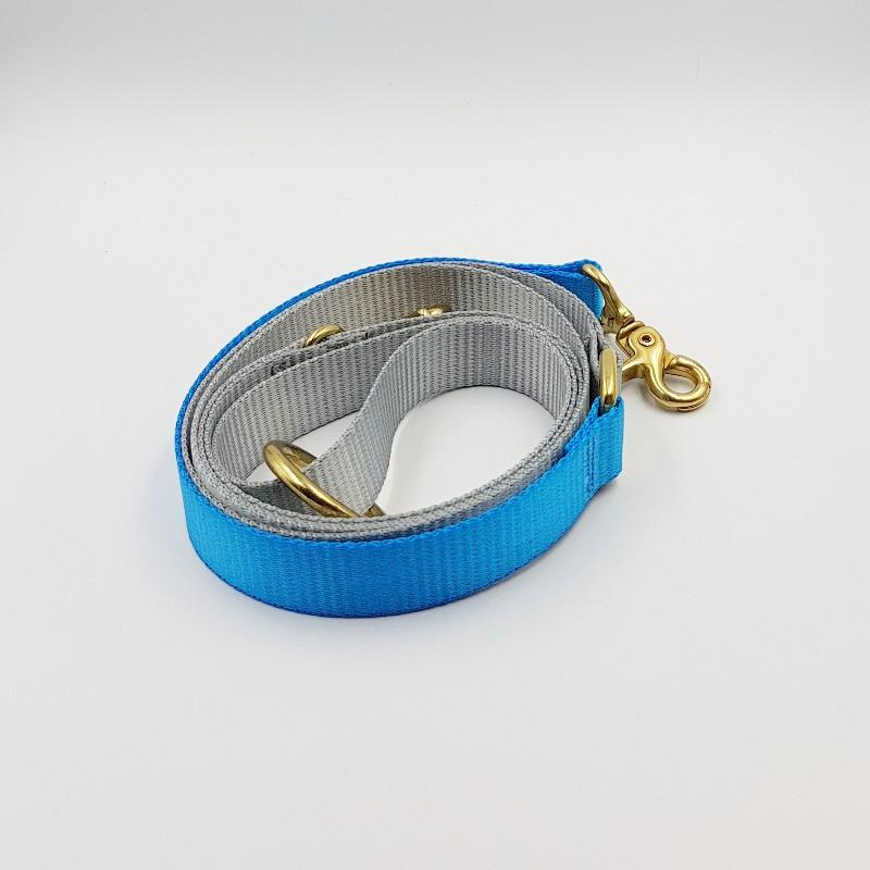 Clipper dog leash - Grey / Aqua