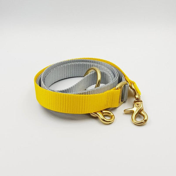 Clipper dog leash - Grey / Yellow