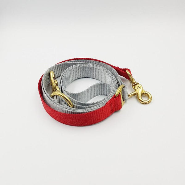 Clipper dog leash - Grey / Red