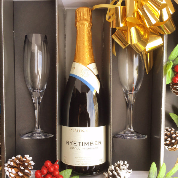 Nyetimber Sparkling Cuvee Gift w/ Flutes