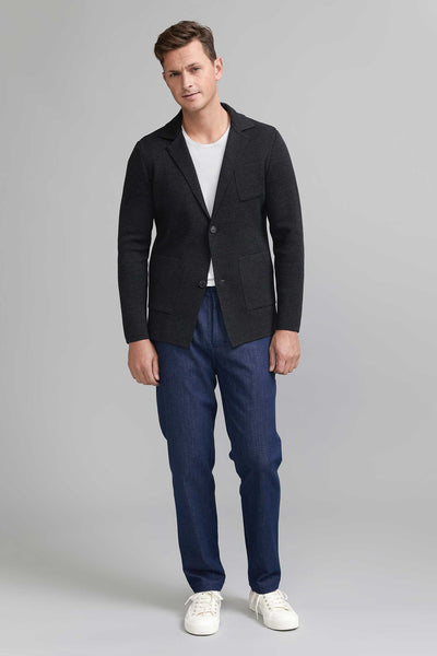 Elias Wool Cardigan - Antracite