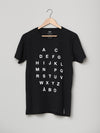 ALPHABET T-SHIRT BLACK
