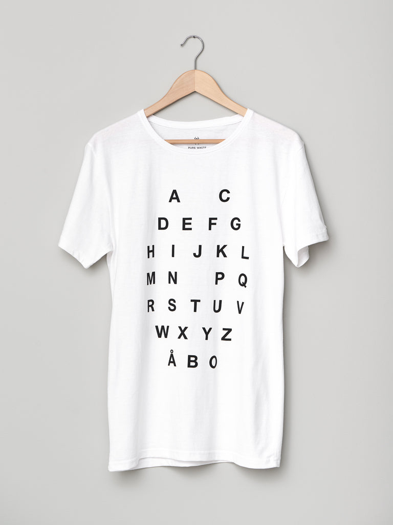 ALPHABET T-SHIRT WHITE