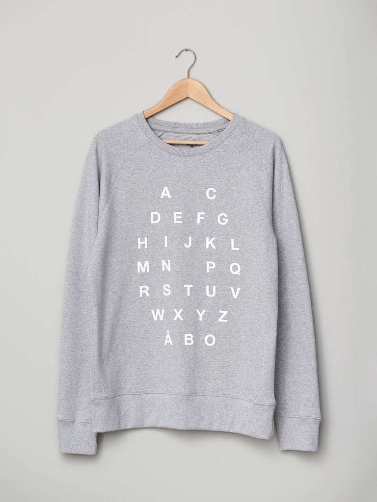 ALPHABET SWEATER GREY