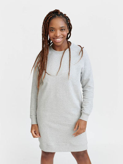 Pure Waste Sweater Dress - Melange Grey