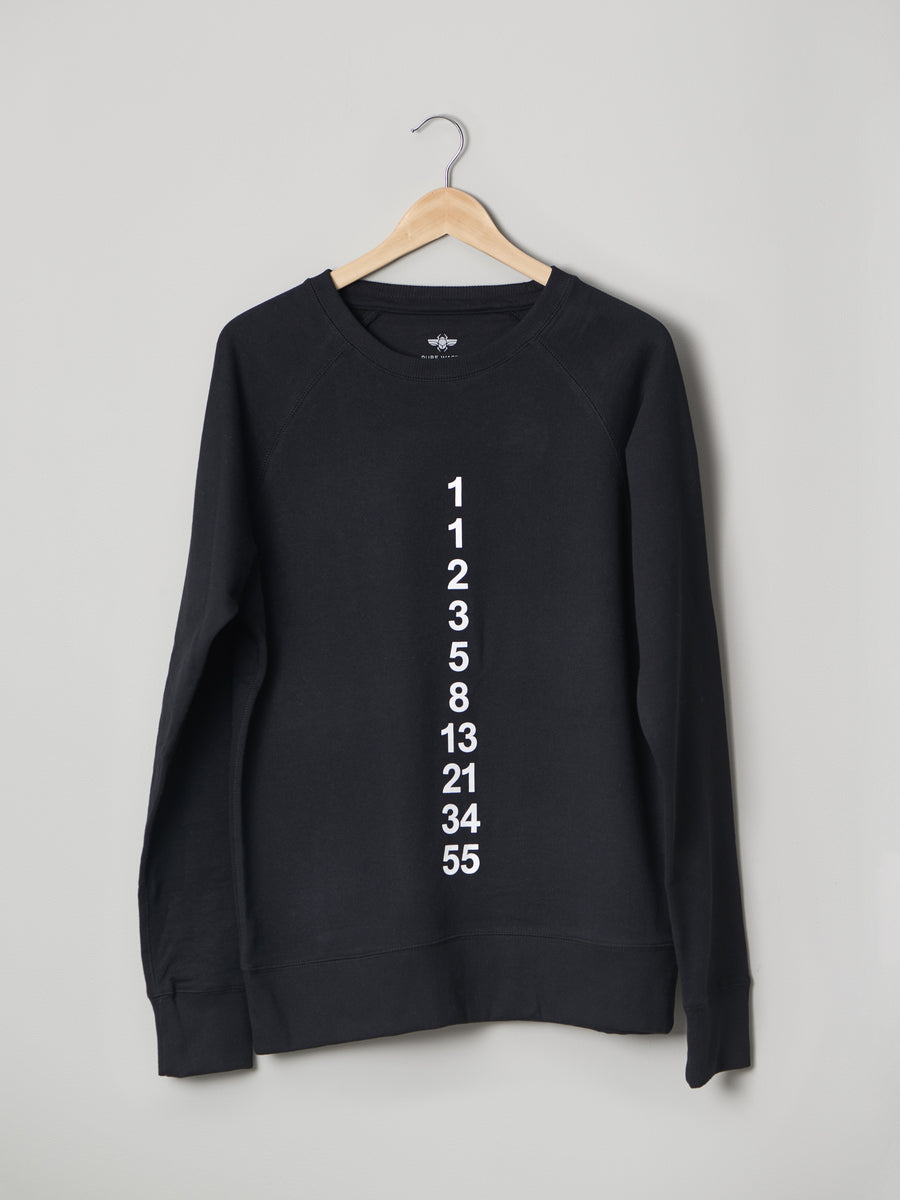 FIBONACCI SWEATER BLACK