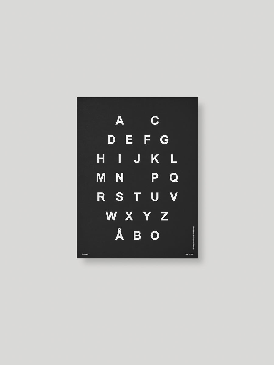 ALPHABET JULISTE - BLACK