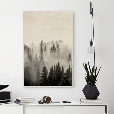 Plywood Print - Misty Forest 30x40