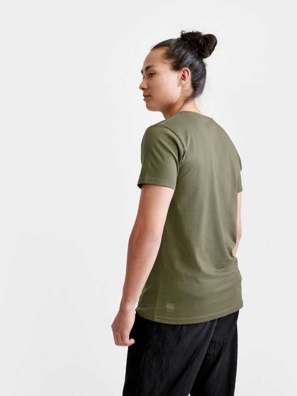 Pure Waste Crewneck T-Shirt - Khaki