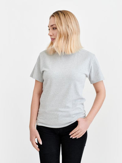 Pure Waste Crewneck T-Shirt - Melange Grey