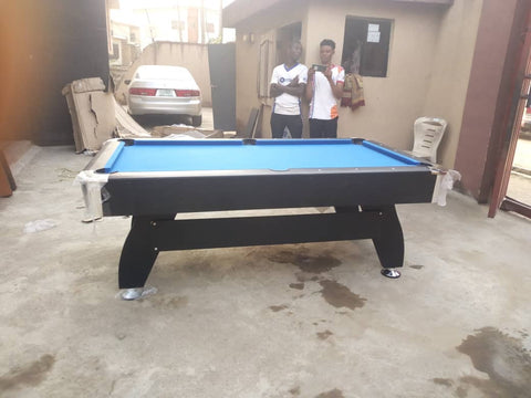8ft pool table side view