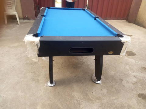 8ft pool table side front view