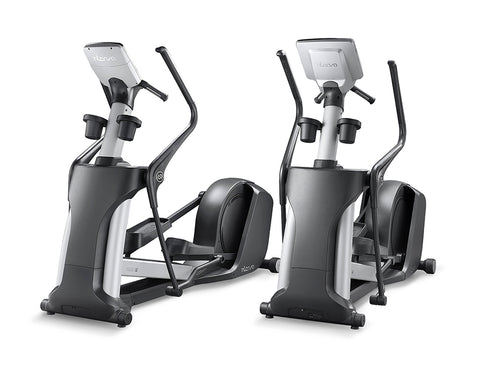Two Intenza Elliptical Commercial Cross Trainer Bikes