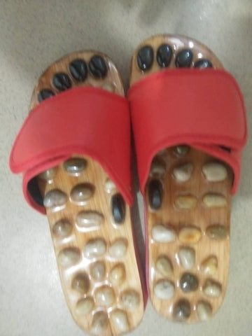 Massage  Acupressure Acupuncture Slippers Red