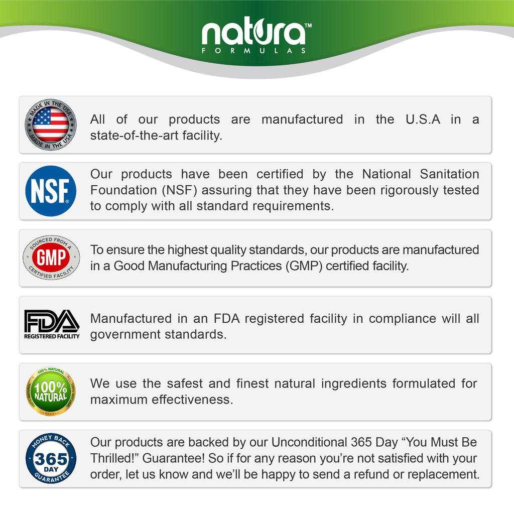 GMP, NSF and FDA Certified