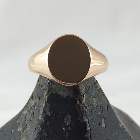 Plain Undecorated Signet Rings