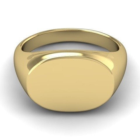 Oblong 15mm x 11mm  -  18 Carat Yellow Gold Signet Ring