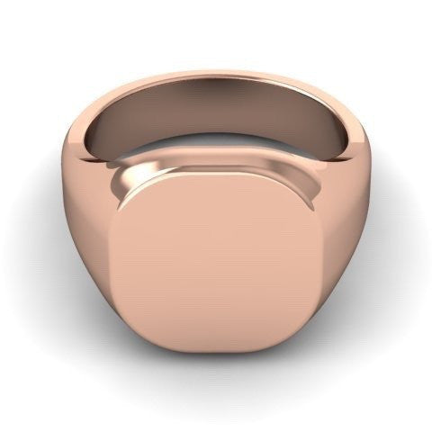 Cushion 12mm x 11mm - 9 Carat Rose Gold Signet Ring