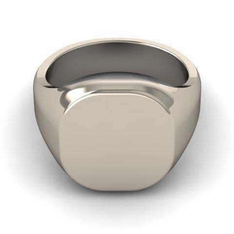 Cushion 12mm x 11mm - Sterling Silver Signet Ring