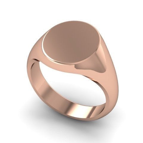 Classic Oval 13mm x 11mm - 18 Carat Rose Gold Signet Ring