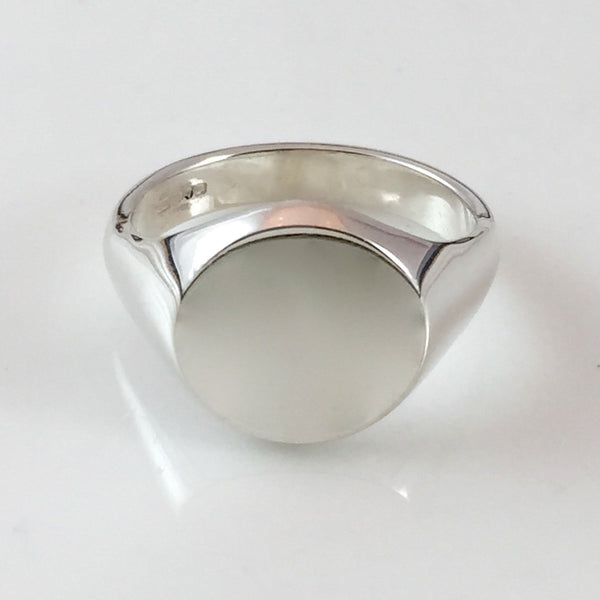 Classic Oval 16mm x 13mm - 18 Carat White Gold Signet Ring