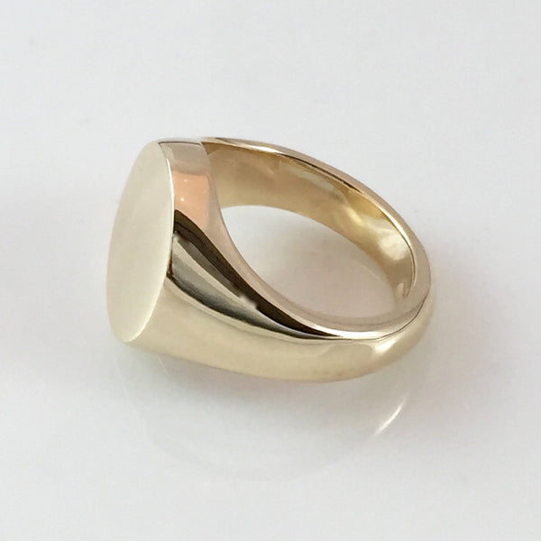 Classic Oval 14mm x 12mm -18 Carat Yellow Gold Signet Ring