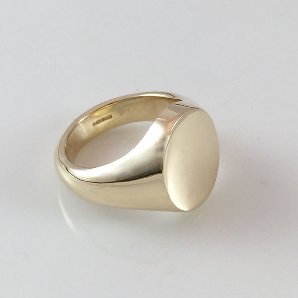 Classic Oval 13mm x 11mm - 9 Carat Yellow Gold Signet Ring