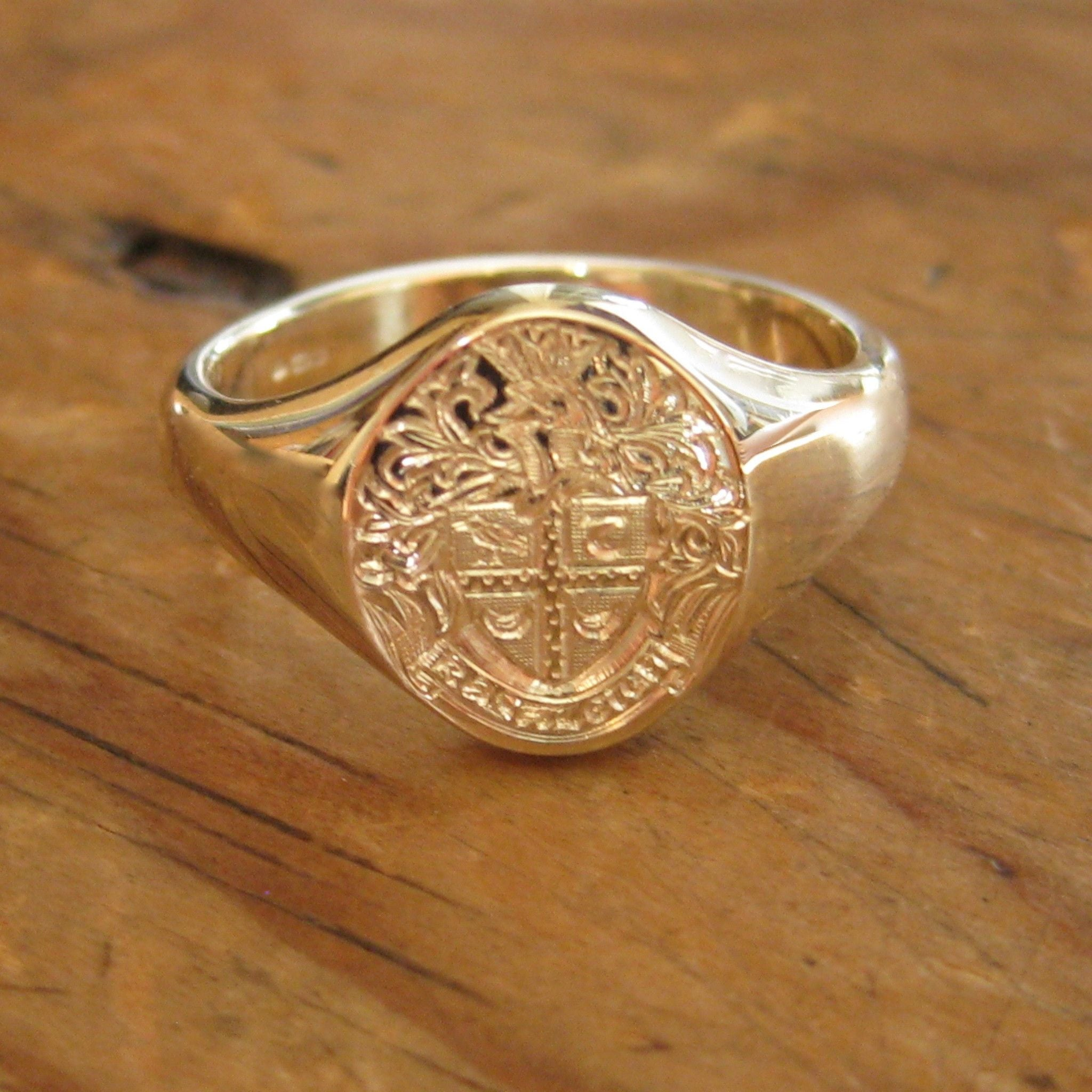 jewelry custom image crest in store medal man rings cent santayana hand shop big on a s ring