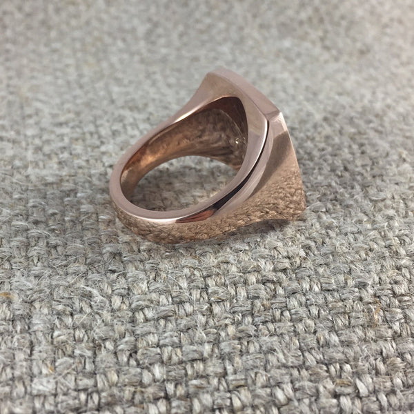 Chinese Character - 9 Carat Rose Gold Signet Ring