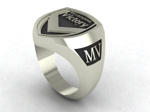 Melbourne Victory Custom Made   -  Sterling Silver Signet Ring