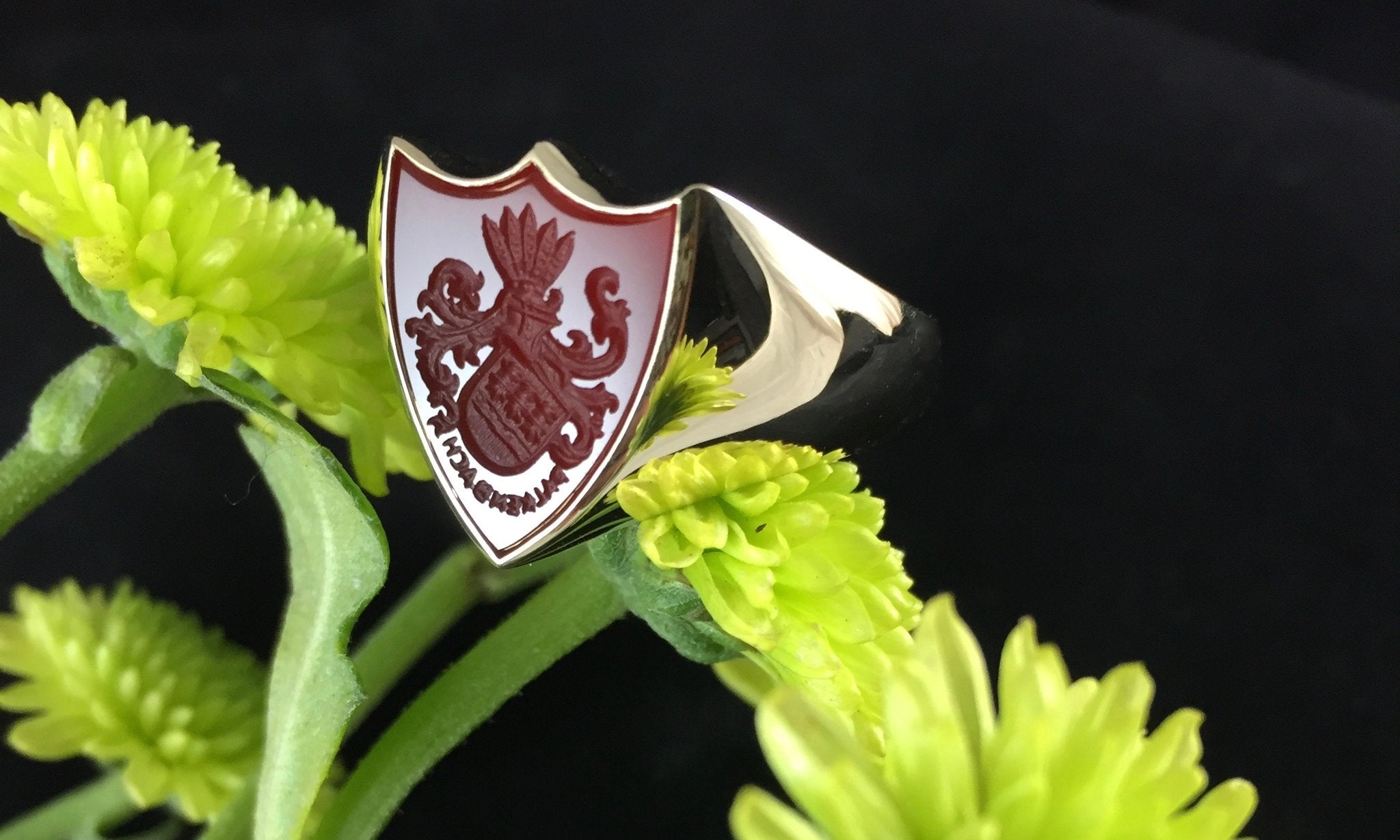 monogram signet ring