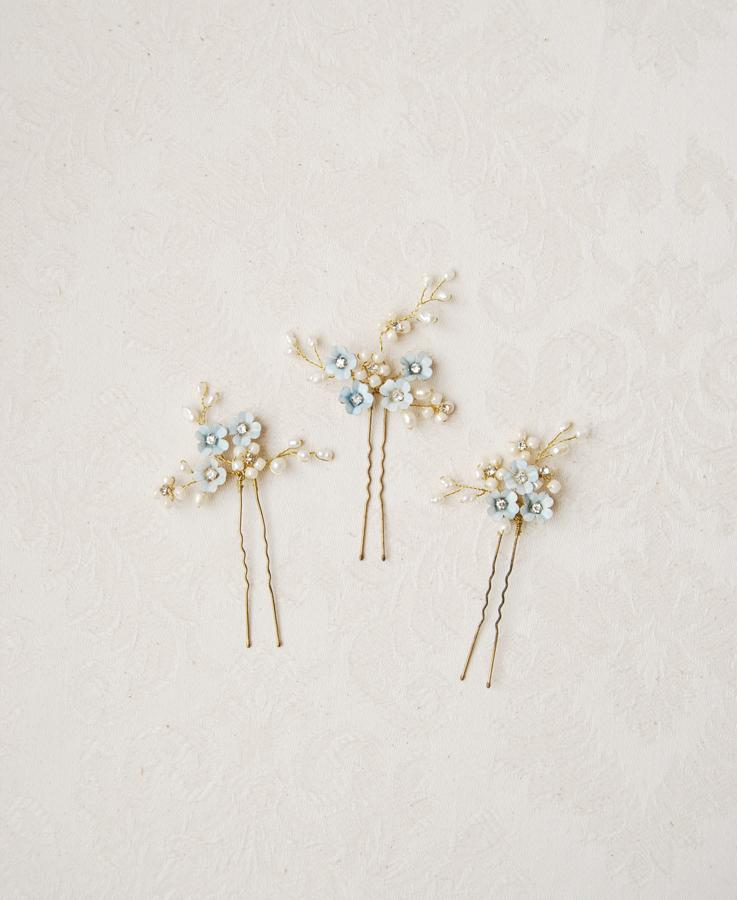 Forget me not hair pins | Elibre