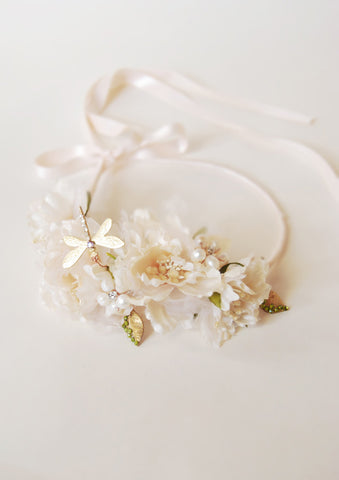 bride pink floral crown | tailor-made | Elibre handmade