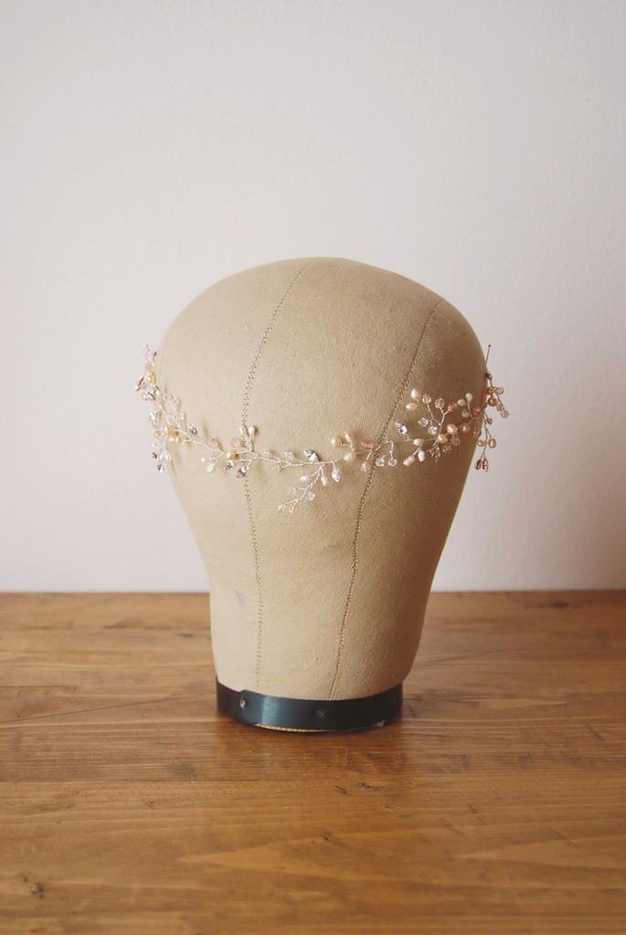 Wedding pink headpiece