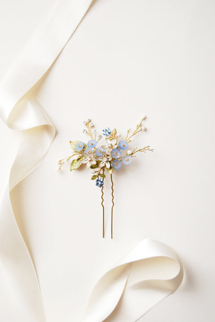 Bridal forget me not hairpin | Elibre handmade