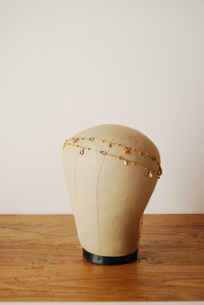 bohemian crystal hair chains | Elibre handmade