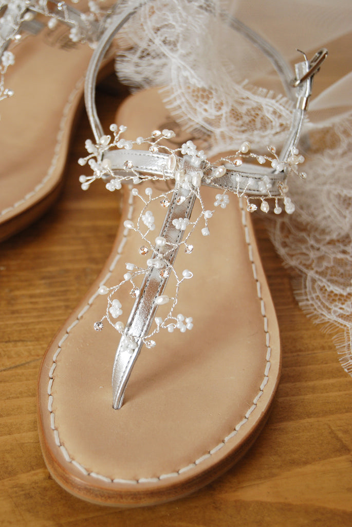 wire wrapped vine bridal shoes decor