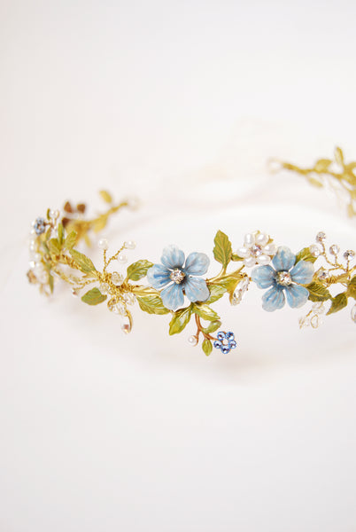 Floral something blue hair crown | Elibre handmade